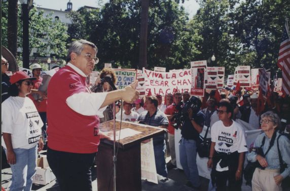(32470) Justice for Janitors demonstration, Local 1877, Sacramento CA, 1997