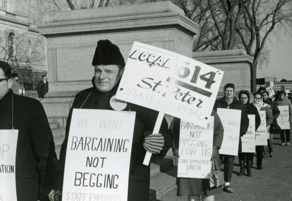 (32695) Rev. Albert Blatz leading a picket in St. Paul, Minnesota, 1968