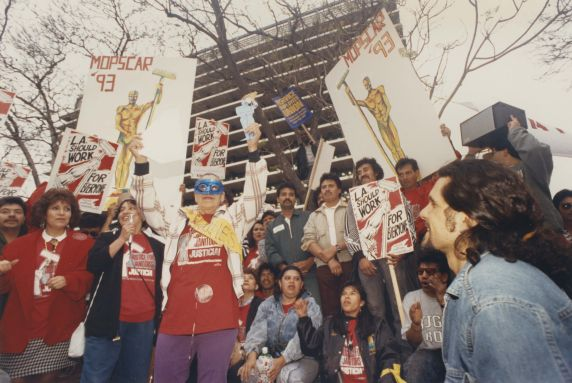 (32780) Justice for Janitors demonstration, Local 399, Los Angeles CA, 1993