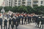 (32905) Justice for Janitors protest at Century City, Los Angeles CA, 1990