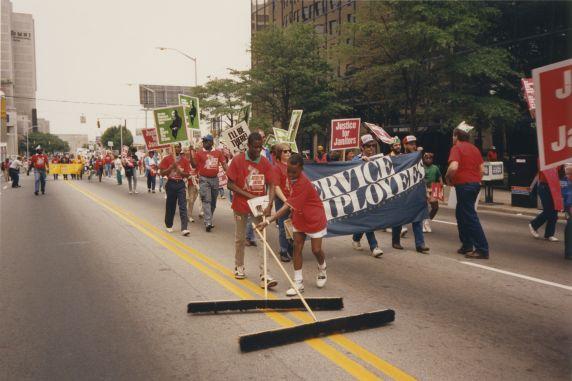 (33003) Justice for Janitors pilgrimage rally, Atlanta GA, 1988