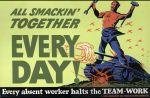 (33262) WWII, War Industry, Propogranda Posters, 1940s