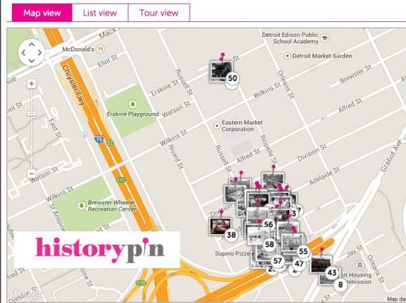 (33276) HistoryPin, Map, Eastern Market