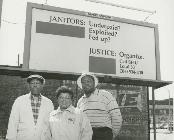 (33571) Local 50 members and billboard
