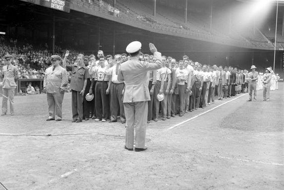 (33611) Recruitment, Navy, Briggs Stadium, 1942