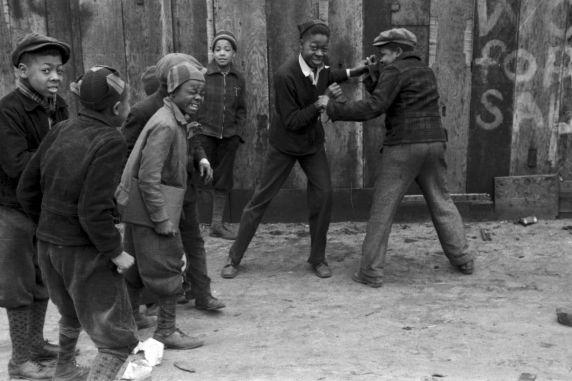 (33762) Neighborhood Boxing Match, Children, Near East Side, Detroit