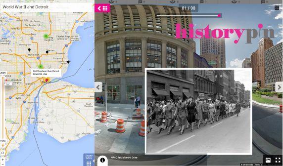 (33928) HistoryPin Tour Map: Detroit in World War II