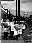 (3392) Big-Y store, pickets, Springfield, Massachusetts, 1974