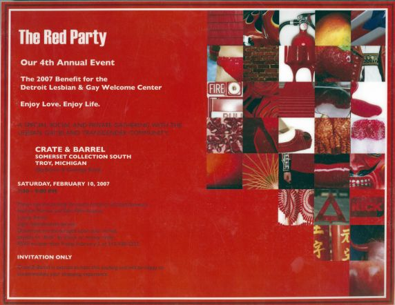 (34291) The Red Party, flyer