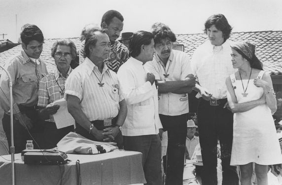 Agbayani Village dedication speakers, June 1974.