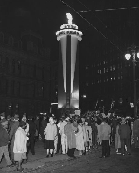 (35906) Torch Drive, United Foundation torch lighting, 1953.