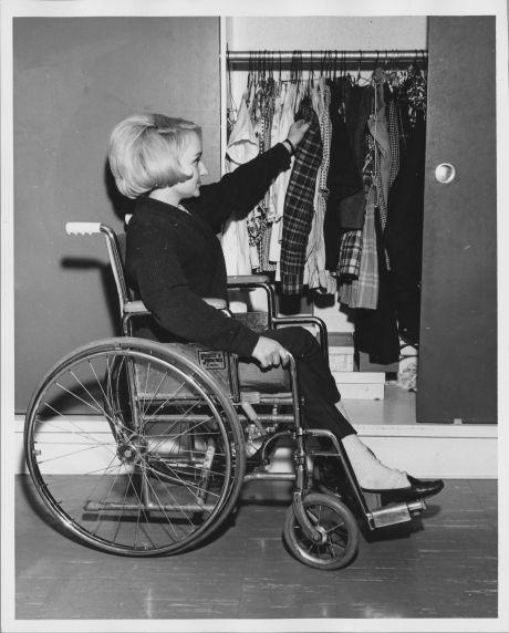 (35992) Wheelchair-modified closet, 1966-1969