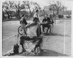 (35993) Archery Warm-up before Michigan Wheelchair Games, 1968