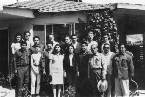 (37198) UFW, Staff, Orendain, Itlion, Huerta, Chavez, Delano, 1969