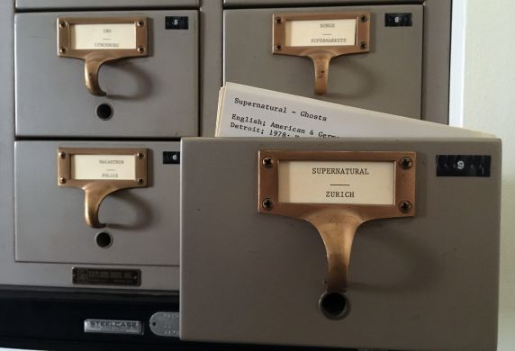 (37226) Folklore Archive; Index Cards