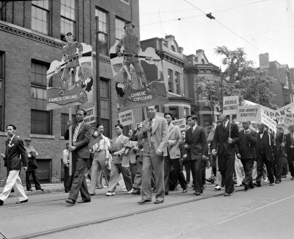 (38883) Ethnic Communities, Chinese, Demonstrations, 1938