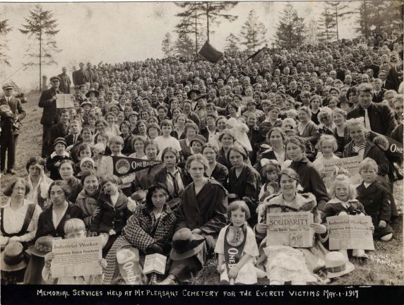 (393) Everett Memorial, Violence, May Day, Washington, 1917