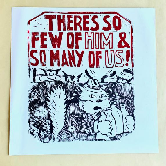 "(46037) Posters, ""Fat Cat"" Bosses, 1987"
