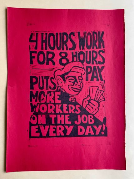 (46030) Poster, 4-Hour Day Movement, Undated