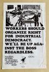 (46032) Poster, Industrial Democracy, 1980s