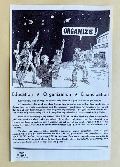 (46044) Poster, Union Organizing, Worker Education, IWW Pamphlets, Undated