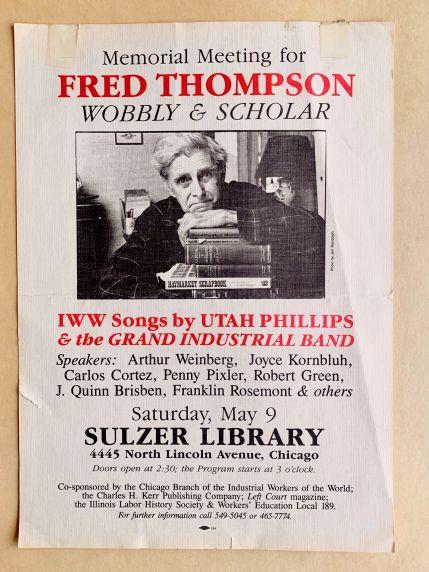 (46046) Poster, Fred Thompson Memorial, Cortez, Phillips, Chicago, c. 1987