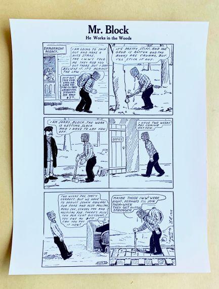 (46047) Cartoons, IWW, Mr. Block, Undated