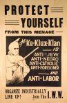 (46068) Poster IWW Organizing, Ku Klux Klan, 1920s