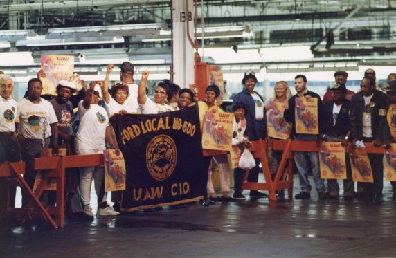 (46512) Nelson Mandela, Ford Rouge Plant, Local 600, 1990