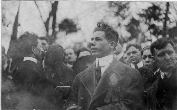 (4890) Joe Hill, Funeral, Santana, Chicago, 1915