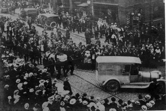 (5109) Frank Little, Funeral, Montana Free Speech Fight, 1917
