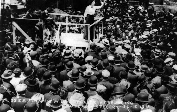 (5169) Paterson Strike, Elizabeth Gurley Flynn, Meeting, 1913