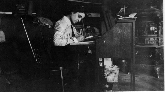 (5214) Matilda (Rabinowitz) Robbins, Portrait, Little Falls, New York, 1913