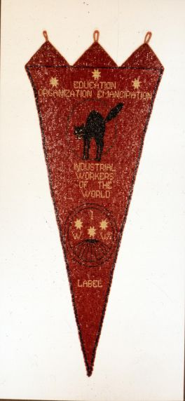 (5451) IWW Beaded Banner, 1910s