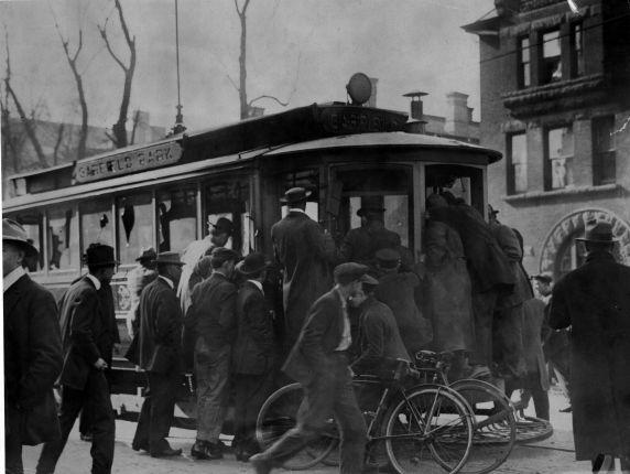 (6563) Strikes, Indianapolis Street Car Strike, Violence, 1912