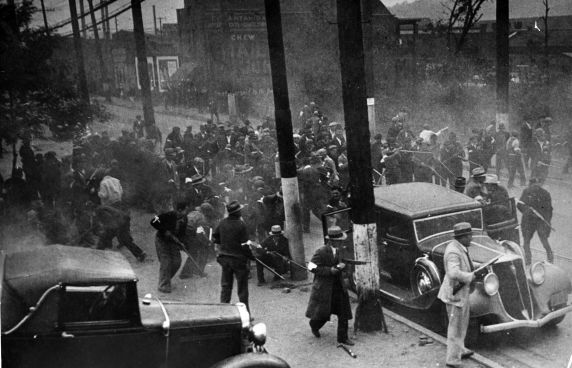 (6574) Strikes, Violence, Tube Company Strike, Ambridge, Pennsylvania, 1932