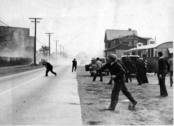 (6575) Strikes, Violence, Textile Strike, Paterson, New Jersey, 1933