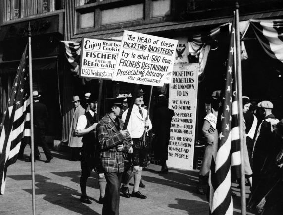 (6576) Strikes, Pickets, Restaurant Workers, Detroit, Michigan, 1933-1934