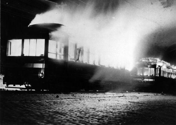 (6590) Strikes, Violence, Street Car Strike, South Omaha, Nebraska, 1935