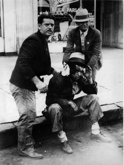 (6596) Strikes, Violence, Maritime Workers, San Francisco, California, 1934