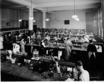 (6677) Classrooms, Interiors, Laboratories, Old Main, c. 1935