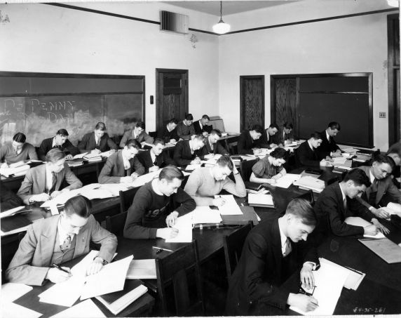 (6689) Classrooms, Interiors, Old Main, 1935