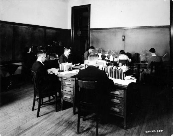 (6690) Classrooms, Interiors, Old Main, 1935