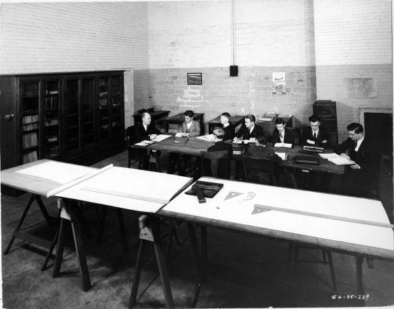 (6695) Classrooms, Interiors, Old Main, 1935