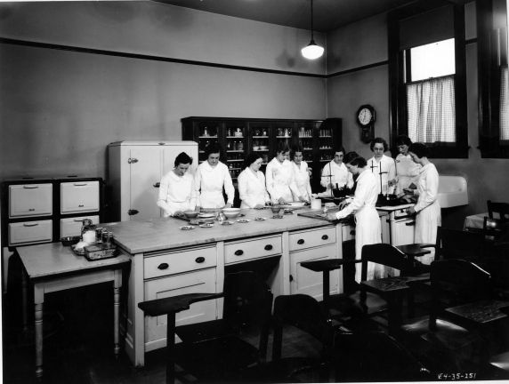 (6696) Classrooms, Interiors, Old Main, 1935