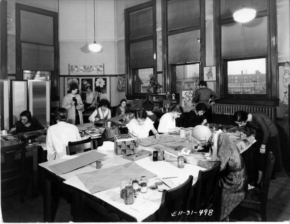 (6699) Classrooms, Interiors, Old Main, 1931