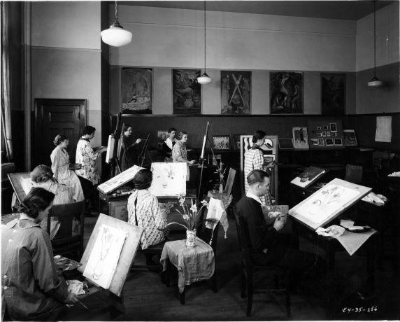 (6700) Classrooms, Interiors, Old Main, 1935