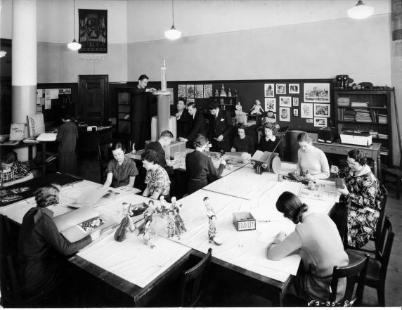 (6703) Classrooms, Interiors, Old Main, 1935