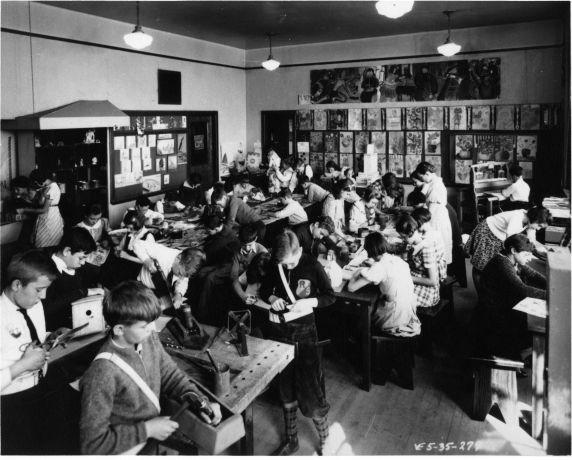 (6719) College of Education, Student teachers, Roosevelt Elementary School, 1935