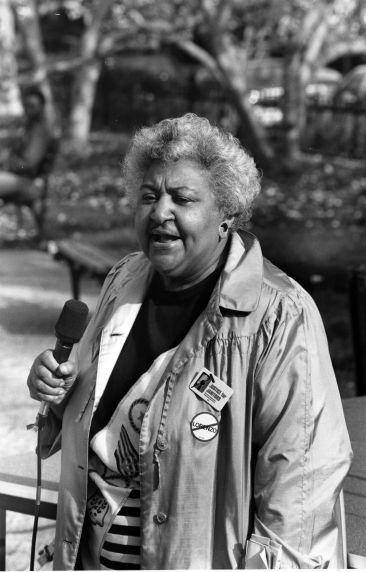 (7306) Arline Neal, Justice for Janitors, Demonstration, World Bank, 1989